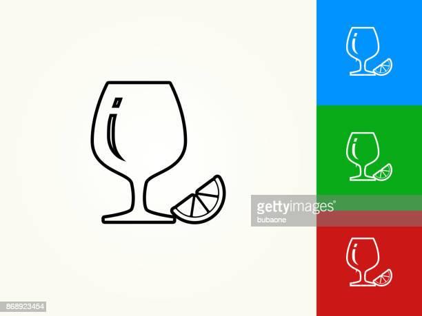 Drink Glass Black Stroke Linear Icon