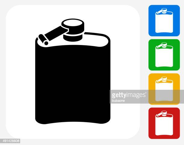 drink icon flat graphic design - laboratory flask stock illustrations