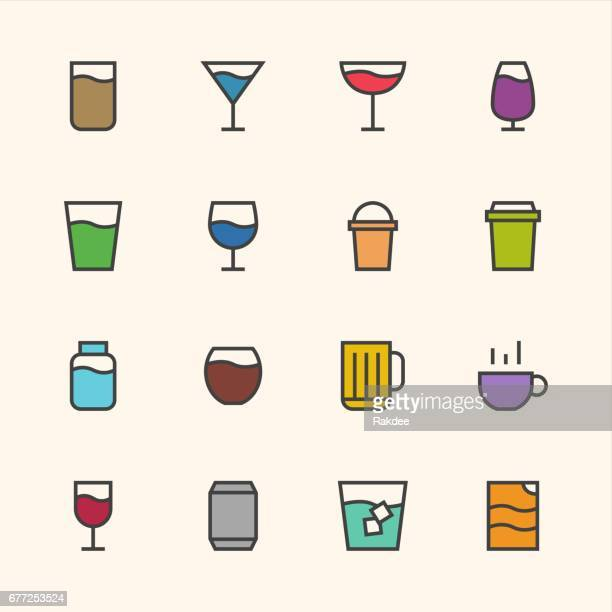 drink icon - outline series - juice drink stock illustrations, clip art, cartoons, & icons