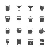Drink Icon Set 1 - Gray Series