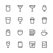 Drink Icon Set 1 - Line Series