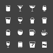 Drink Icon Set 1 - White Series