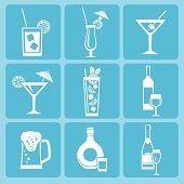 Drink icon set.