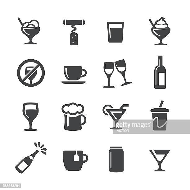 stockillustraties, clipart, cartoons en iconen met drink icons - acme series - koffie drank