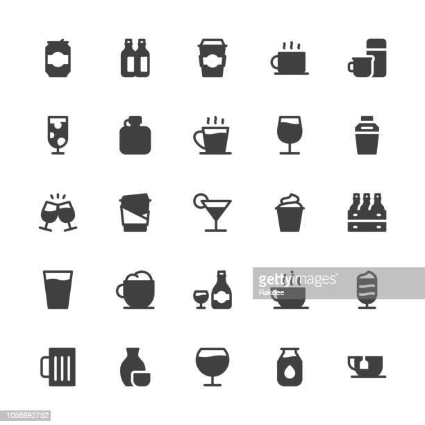 ilustrações, clipart, desenhos animados e ícones de conjunto de ícones de bebida 1 - série cinza - drink can