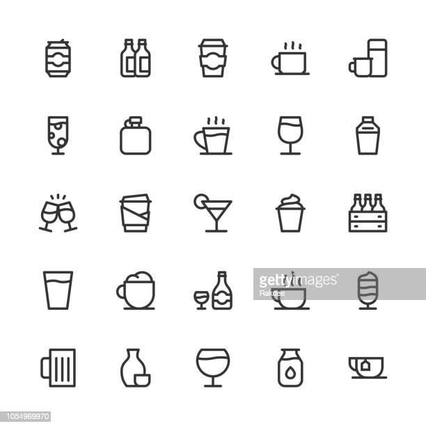 Drink Icons Set 1 - Line Series