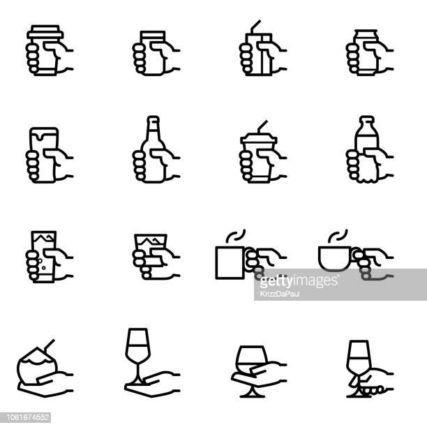 drink icons - coffee drink stock illustrations