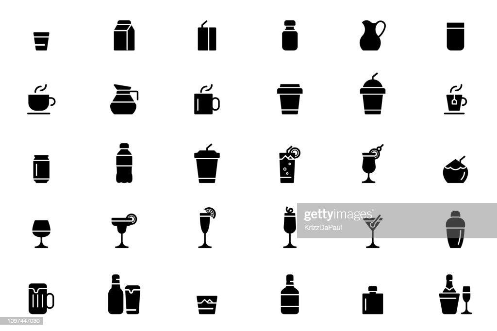 Icone delle bevande : Illustrazione stock