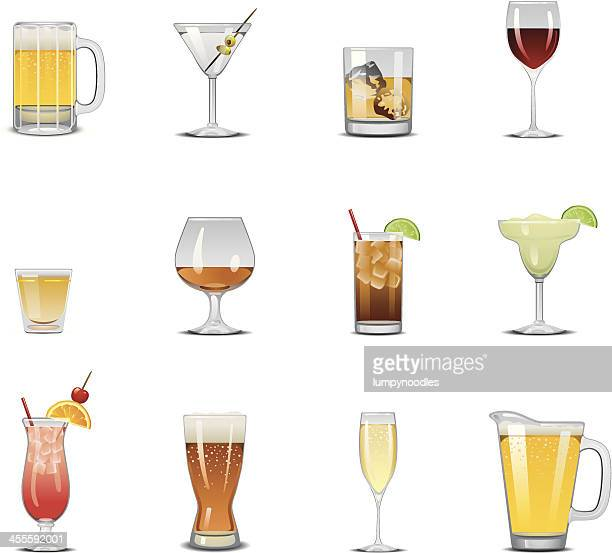 drink icons - beer glass stock illustrations, clip art, cartoons, & icons