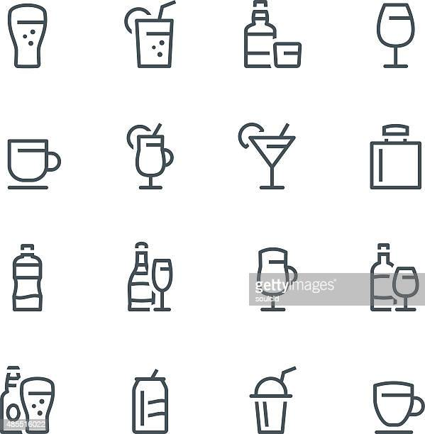 drink icons - beer alcohol stock illustrations, clip art, cartoons, & icons