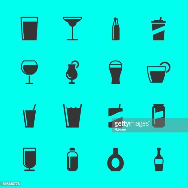 drink icons - margarita stock illustrations