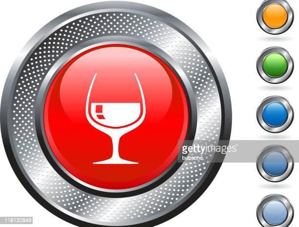 drink royalty free vector art on metallic button - cognac region stock illustrations, clip art, cartoons, & icons