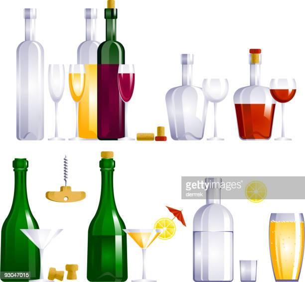 drink - cognac region stock illustrations, clip art, cartoons, & icons