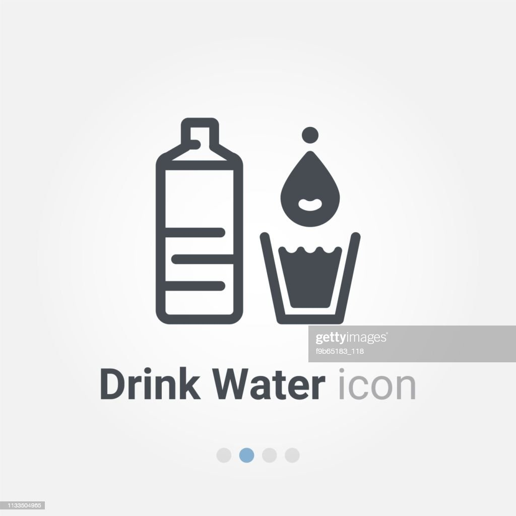 drink water vector icon