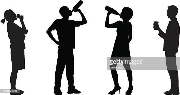 drinking - drunk stock illustrations