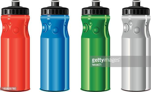 drinking water bottle - water bottle stock illustrations, clip art, cartoons, & icons
