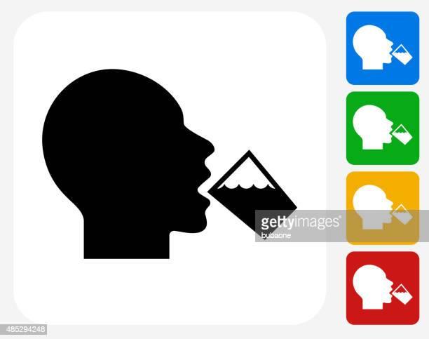 trinkwasser-symbol flache grafik design - durst stock-grafiken, -clipart, -cartoons und -symbole
