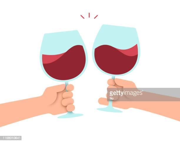 ワインを飲む - 乾杯点のイラスト素材/クリップアート素材/マンガ素材/アイコン素材