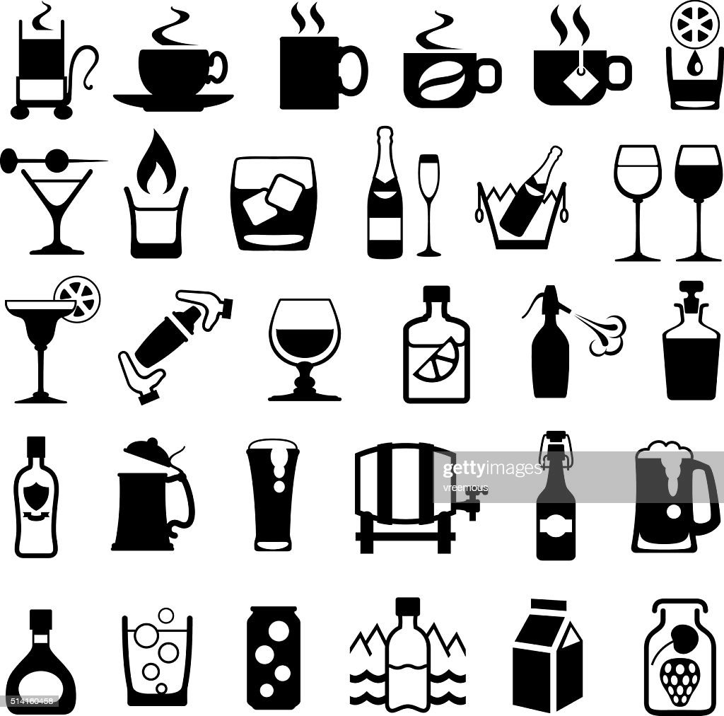 Drinks Icon Set : stock illustration