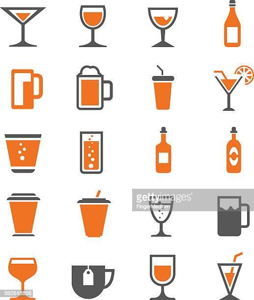 ilustrações, clipart, desenhos animados e ícones de conjunto de ícones de bebidas - tequila drink