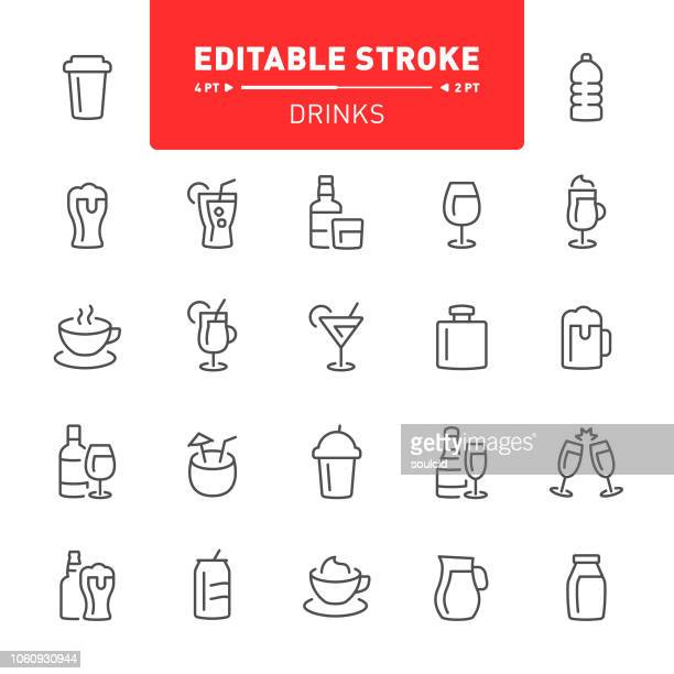 drinks icons - juice drink stock illustrations, clip art, cartoons, & icons