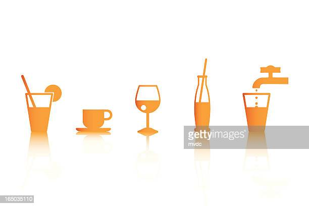 drinks icons (vector) - cocaine stock illustrations, clip art, cartoons, & icons