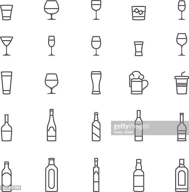 ilustrações, clipart, desenhos animados e ícones de ícones de álcool - tequila drink