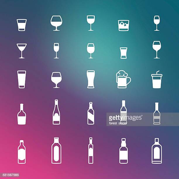drinks icons - mulled wine stock illustrations, clip art, cartoons, & icons