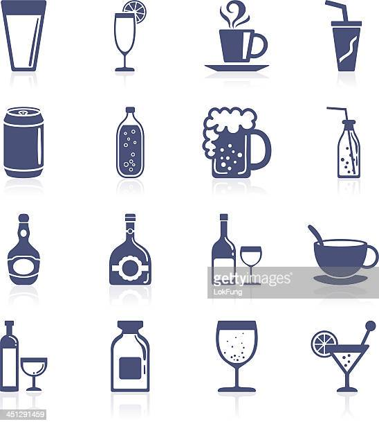 drinks interface icon collection - rum stock illustrations, clip art, cartoons, & icons