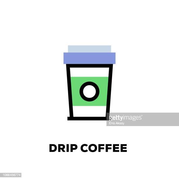 Drip Coffee Line Icon