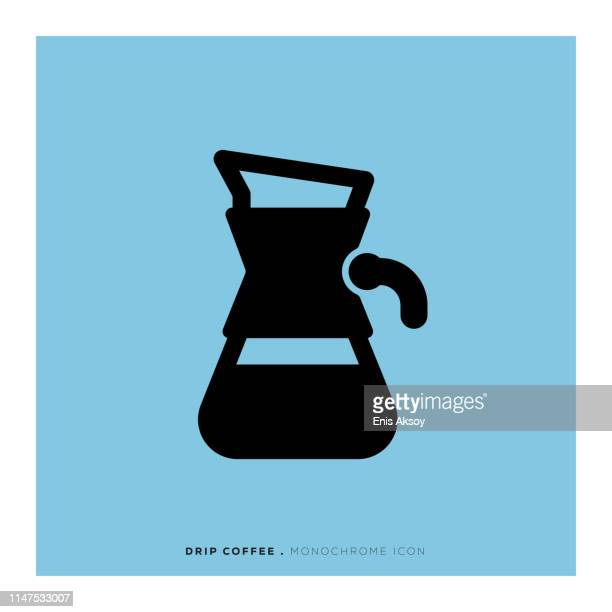 Drip Coffee Monochrome Icon