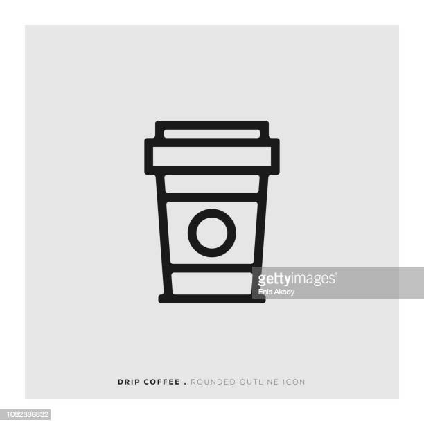 Drip Coffee Rounded Line Icon