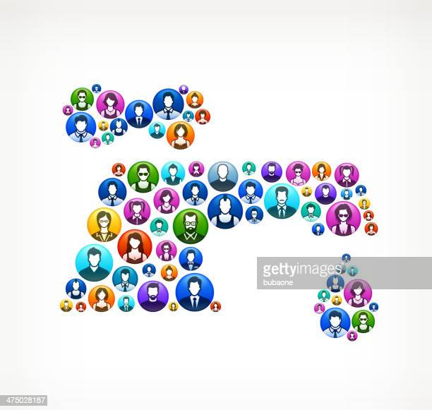 dripping faucet on people buttons - water valve stock illustrations, clip art, cartoons, & icons
