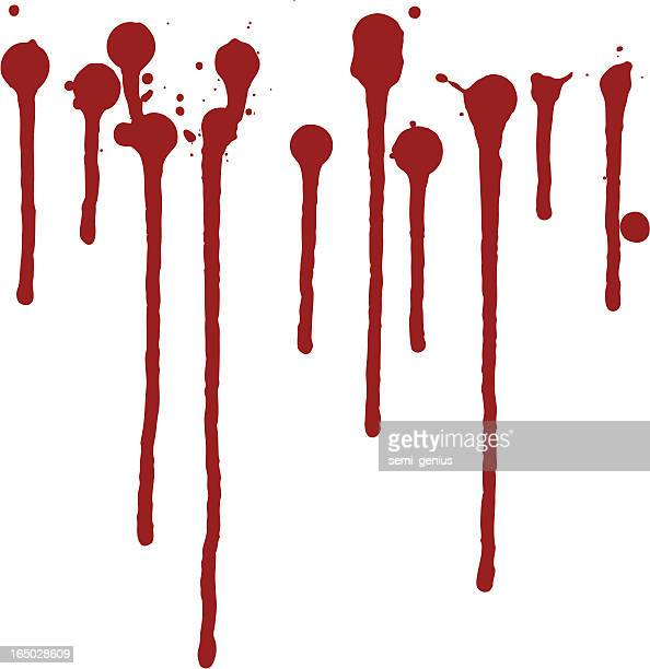dripping paint 1 - blood stock illustrations, clip art, cartoons, & icons