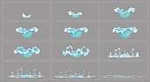 Dripping water special effect animation frames