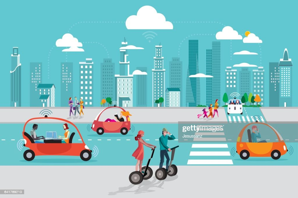Driverless Autonomous Car in the City