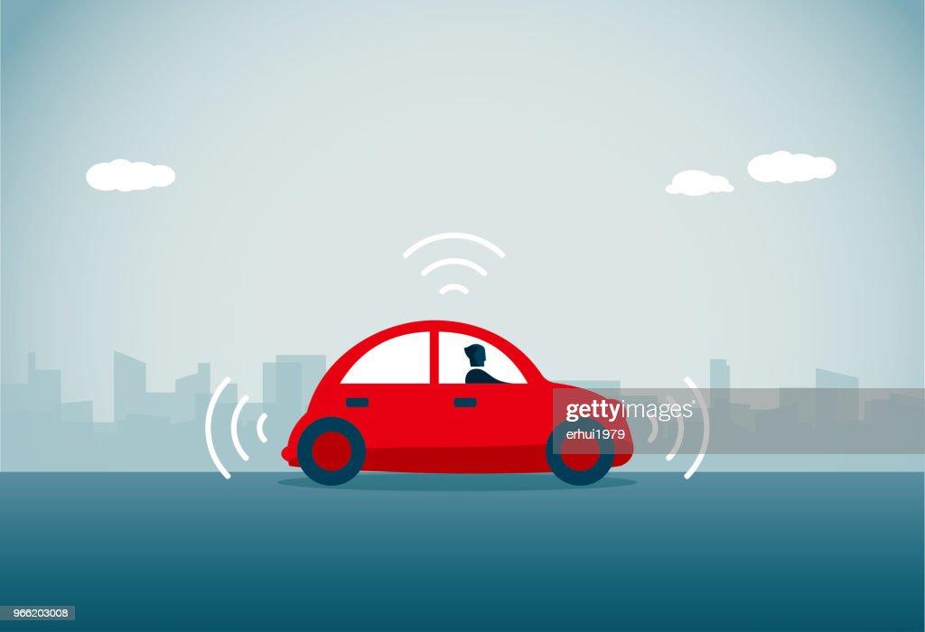 Carro sem condutor : Ilustração