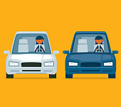 Driving a car - Businesswoman