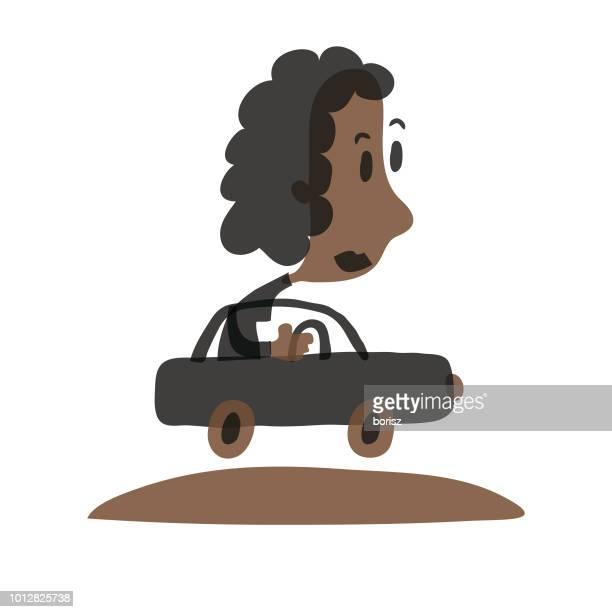 ilustraciones, imágenes clip art, dibujos animados e iconos de stock de conducir un coche - piloto de coches de carrera