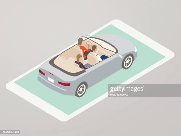 Driving App Illustration