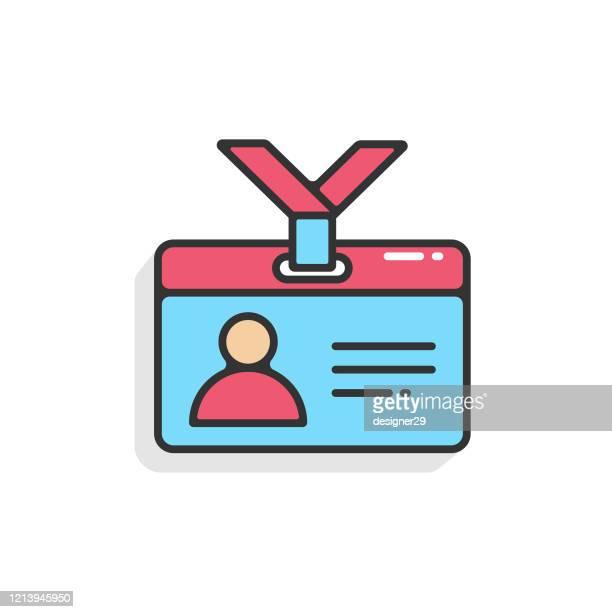 illustrations, cliparts, dessins animés et icônes de icône du permis de conduire. conception de vecteur de carte d'identité sur le fond blanc. - permis de conduire