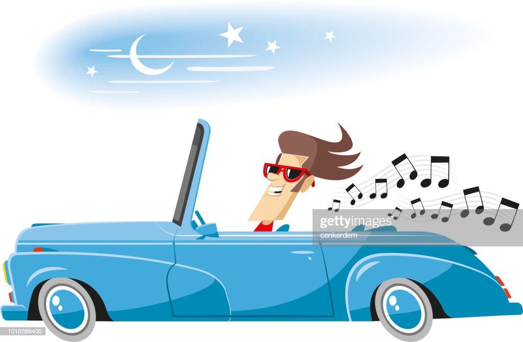 Driving music : stock illustration