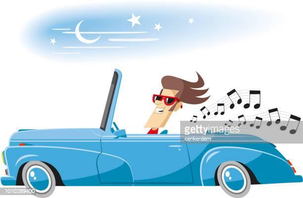 illustrazioni stock, clip art, cartoni animati e icone di tendenza di guidare la musica - hi fi