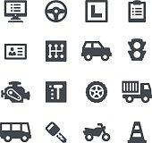 Driving School Icons