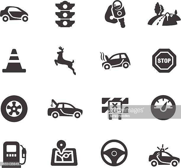 driving symbols - stoplight stock illustrations