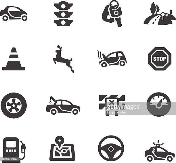 driving symbole - verkehrswarnung stock-grafiken, -clipart, -cartoons und -symbole