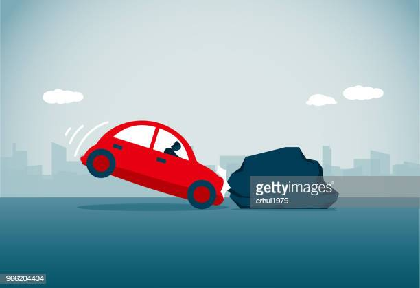 driving - bad luck stock illustrations, clip art, cartoons, & icons