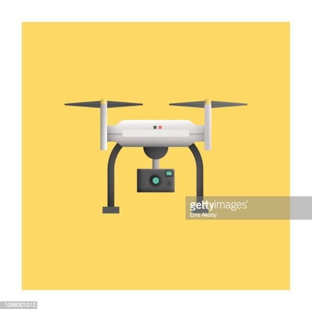 stockillustraties, clipart, cartoons en iconen met drone-pictogram - drone