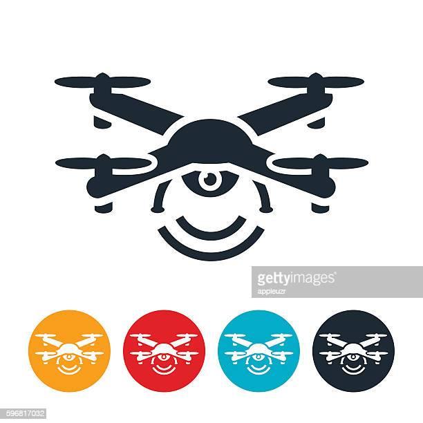stockillustraties, clipart, cartoons en iconen met drone icon - drone