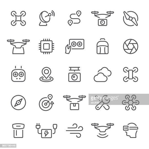 ilustraciones, imágenes clip art, dibujos animados e iconos de stock de soniquete iconos - drone